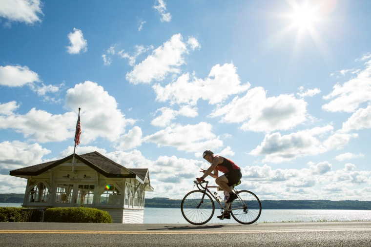 Cayuga Lake Triathlon. August 7, 2016